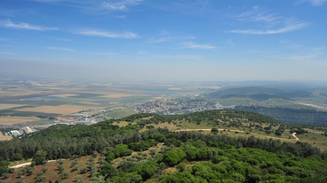 Picture of the Megiddo Valley, the Hebrew form of Armageddon, where the armies of the world will gather to fight Christ.