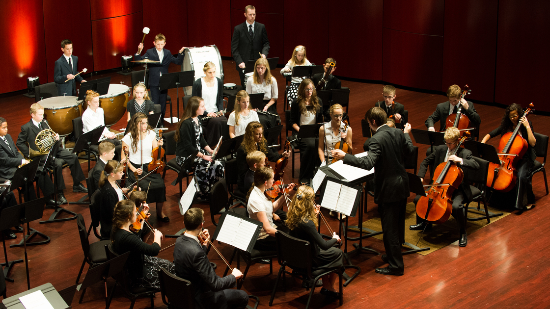 Armstrong Youth Orchestra performing at Armstrong Auditorium