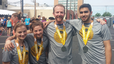 Herbert W. Armstrong College students at the 2016 Oklahoma City Memorial Marathon