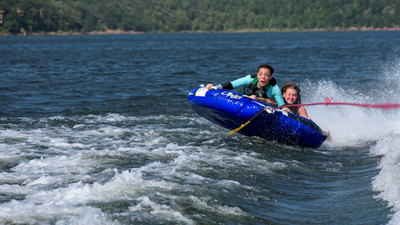 Tubing on Lake Skiatook