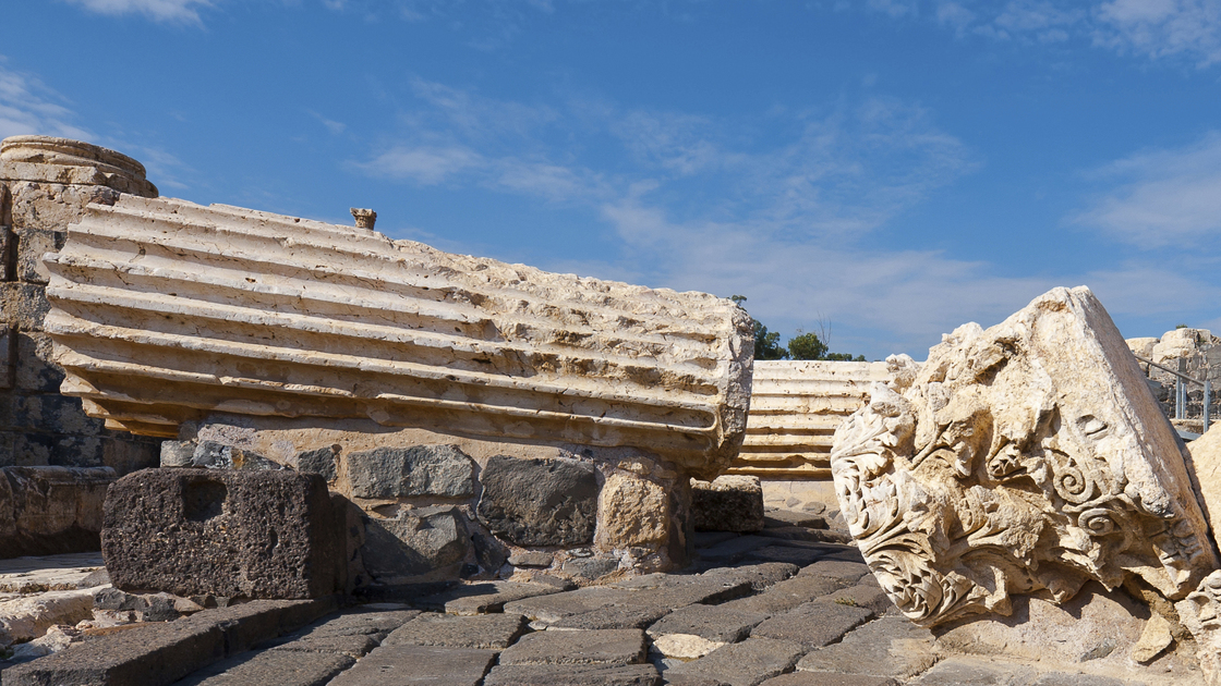 Ruins of Ancient Bet Shean which Collapsed during Earthquake
