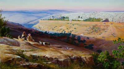 Edward Lear Painting Jerusalem