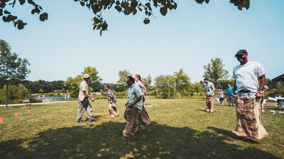 ACT Chicago Picnic, sack races, family, 16x9