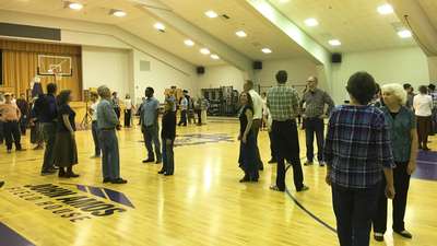 ACT Edmond Square Dance, dancers in the John Amos Field House gymnasium 16x9