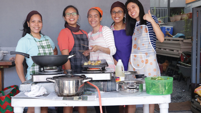 ACT Philippines cookfest, happy singles cooking food 16x9