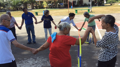 ACT Philippines Family Day, passing the hula hoop, friends, smiling, games, 16x9