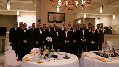 ACT Club Ladies Gala, group photo, men club attendees 16x9