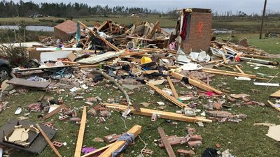 Lee County Alabama tornado damage (March 3, 2019)
