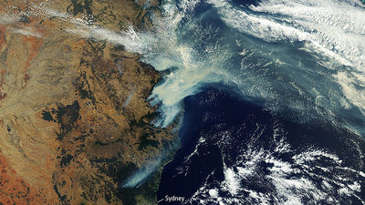 AUS European Space Agency Satellite bushfire Eastern Australia December 2019 16x9
